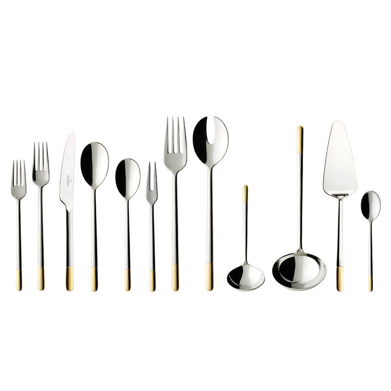 Villeroy & Boch - Ella Gold Plated - sztućce - komplet 70 sztuk - dla 12 osób