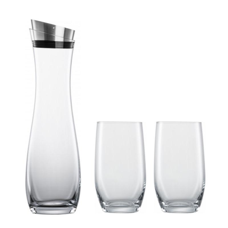 Schott Zwiesel - Fresca - karafka i 2 szklanki - pojemność: 1,0 l + 2 x 0,33 l