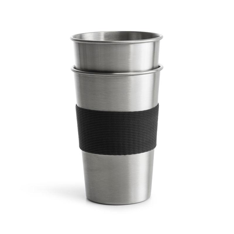 Sagaform - To Go - 2 stalowe kubki - pojemność: 0,5 l