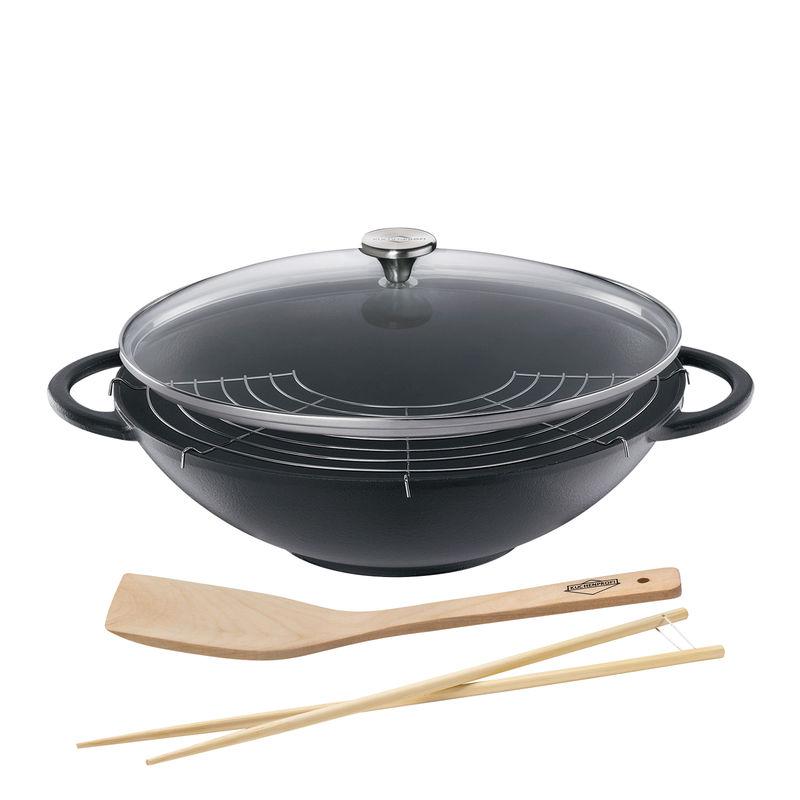 Küchenprofi - La Cuisine - wok żeliwny - średnica: 36 cm