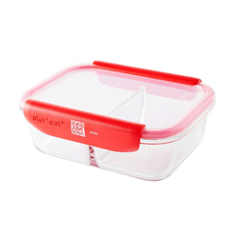 Mastrad - Stor'eat - dwukomorowy pojemnik na żywność - pojemność: 1,0 l