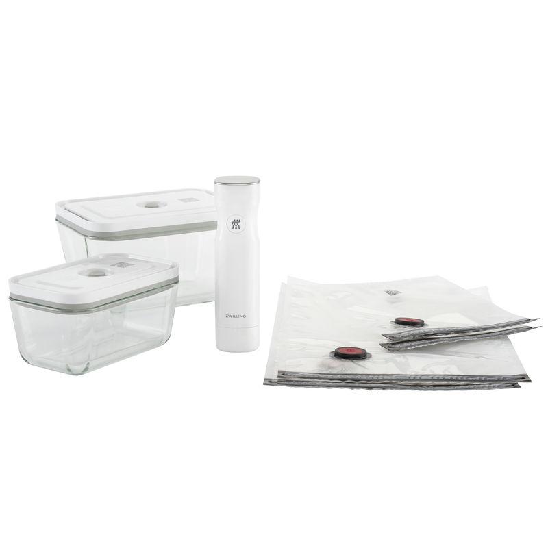 Zwilling - Fresh & Save - zestaw do pakowania próżniowego - pompka, 4 woreczki i 2 szklane pojemniki