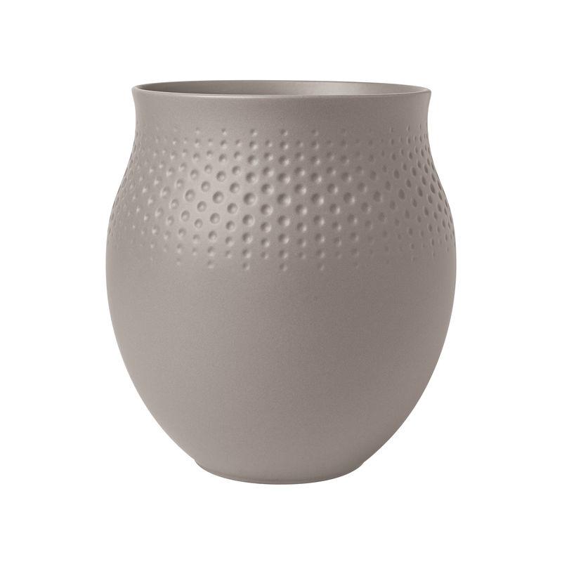 Villeroy & Boch - Manufacture Collier taupe - wazon Perle - wysokość: 17,5 cm