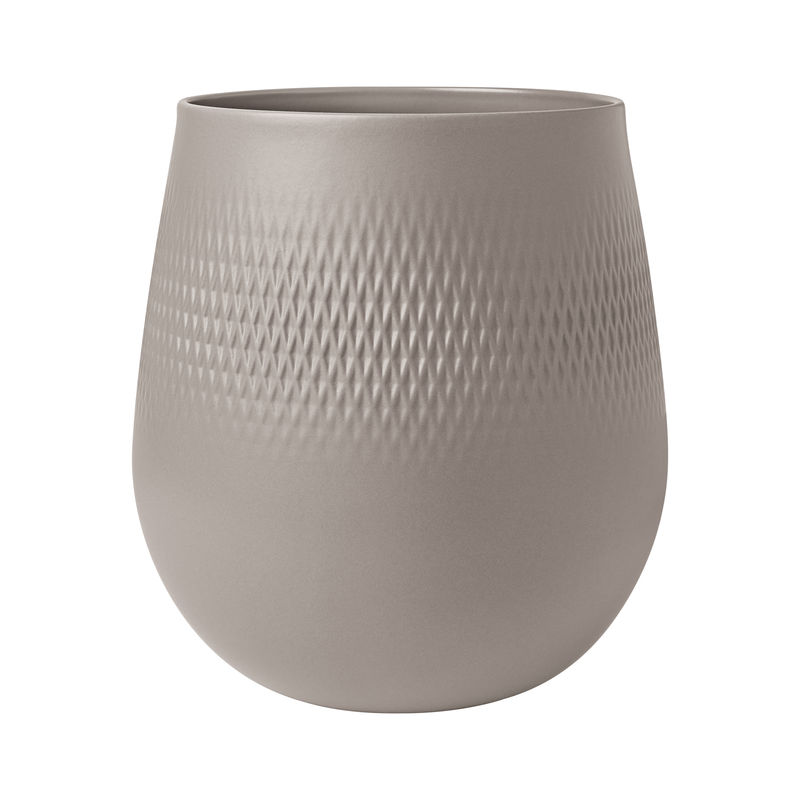 Villeroy & Boch - Manufacture Collier taupe - wazon Carré - wysokość: 22,5 cm