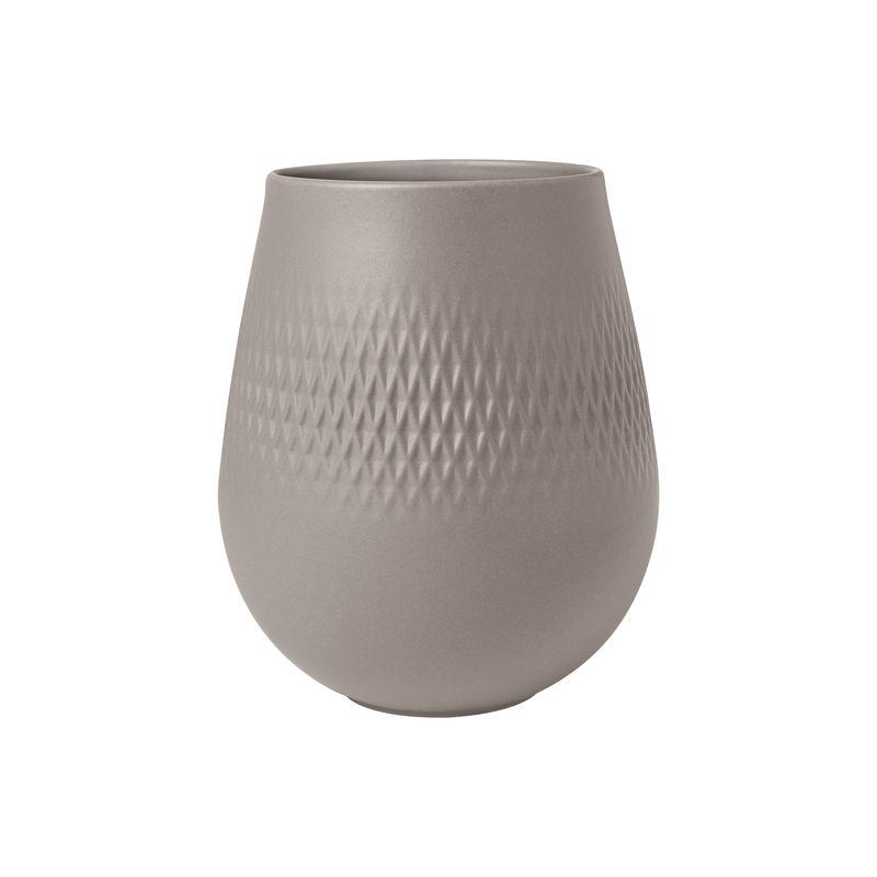Villeroy & Boch - Manufacture Collier taupe - wazon Carré - wysokość: 14 cm