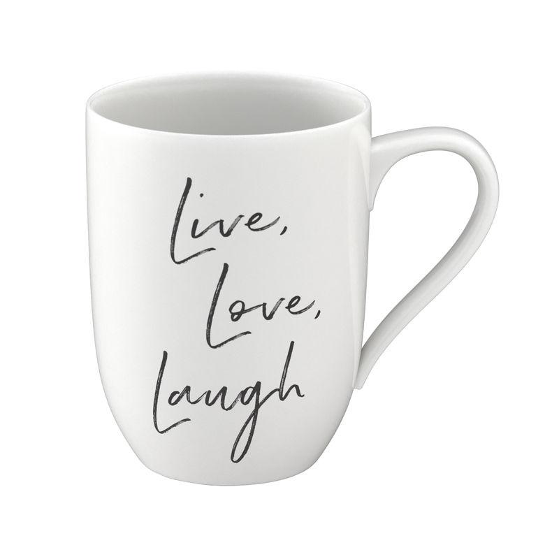 Villeroy & Boch - Live Love Laugh - kubek - pojemność: 0,34 l