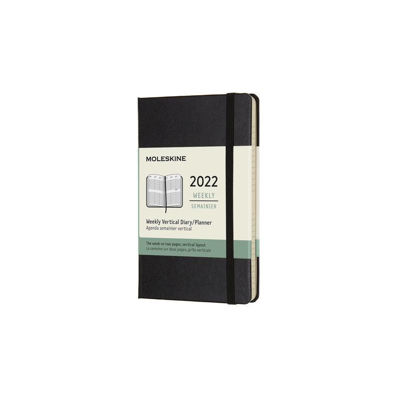 Moleskine - Classic - kalendarz tygodniowy wertykalny - 2022 - wymiary: 9 x 14 cm; twarda oprawa