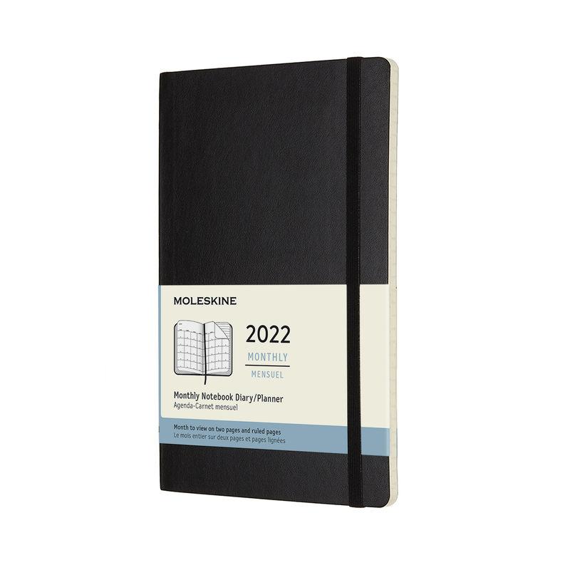 Moleskine - Classic - kalendarz miesięczny - 2022 - wymiary: 13 x 21 cm; miękka oprawa