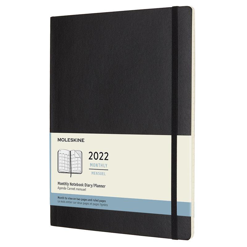 Moleskine - Classic - kalendarz miesięczny - 2022 - wymiary: 19 x 25 cm; miękka oprawa