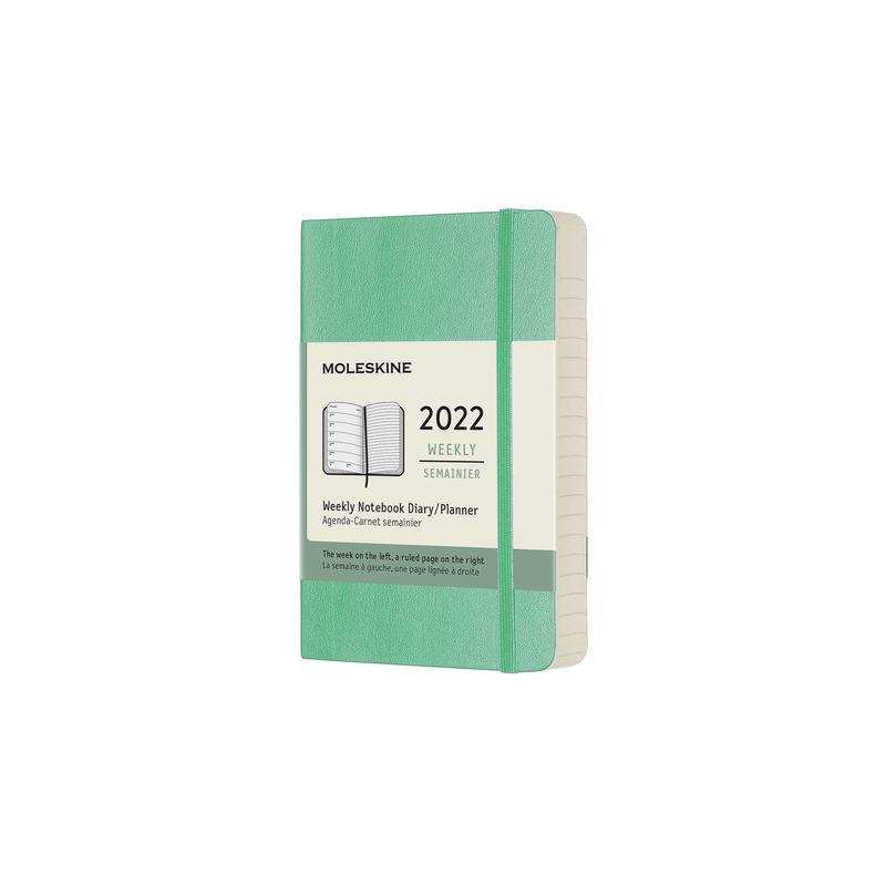 Moleskine - Classic - kalendarz tygodniowy - 2022 - wymiary: 9 x 14 cm; miękka oprawa