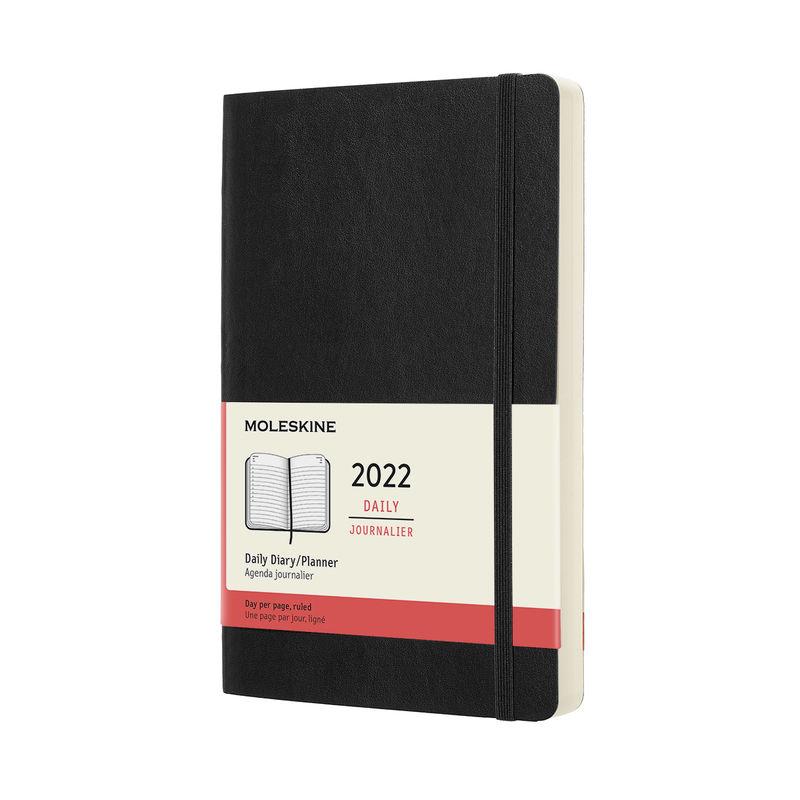 Moleskine - Classic - kalendarz dzienny - 2022 - wymiary: 13 x 21 cm; miękka oprawa