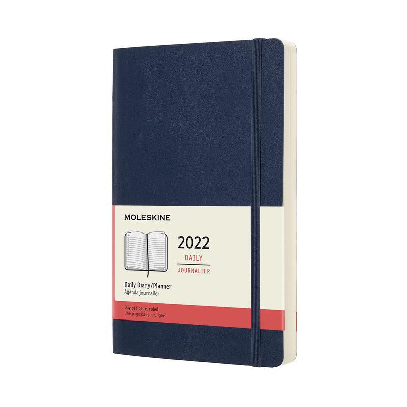 Moleskine - Classic - kalendarz dzienny - 2022 - miękka oprawa
