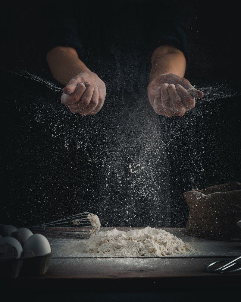 domowe ciasto na pizzę - mąka